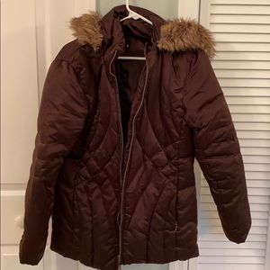 Down feather filled jacket
